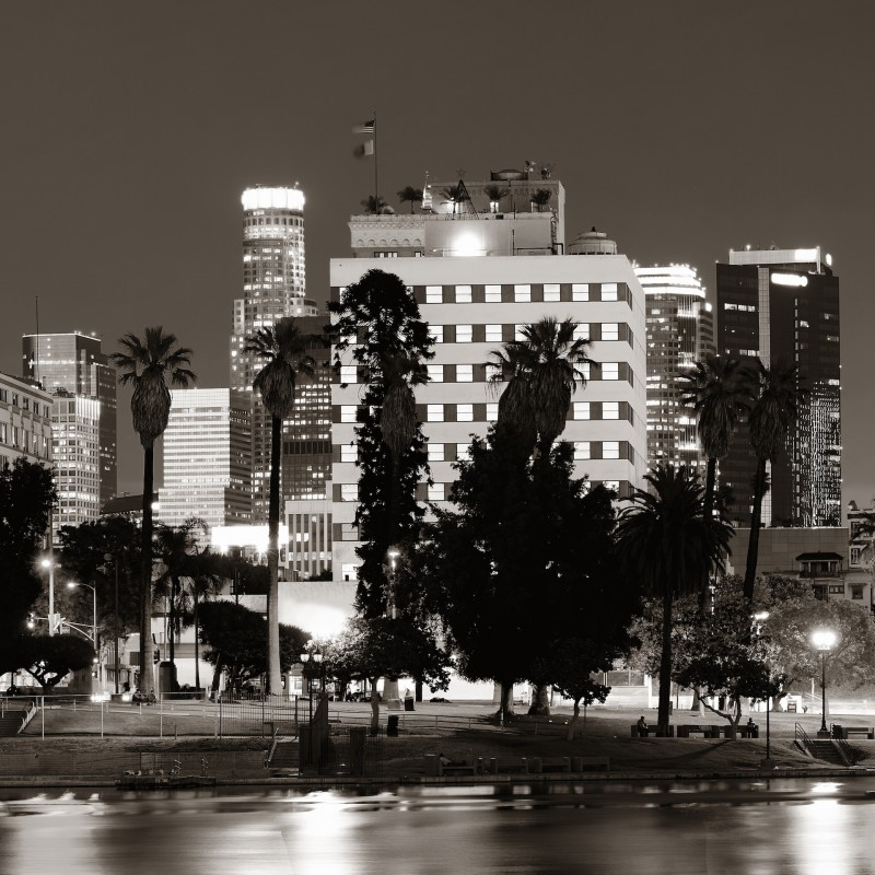 Los Angeles downtown at night