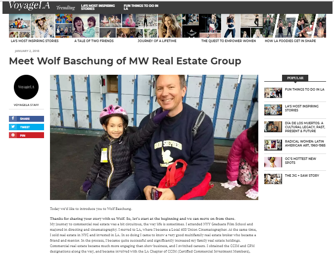 Meet Wolf Baschung, Los Angeles Multifamily Expert